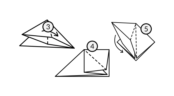 Lenda Tsuru Dobradura Passo 2