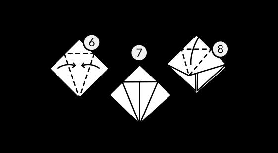 Lenda Tsuru Dobradura Passo 3