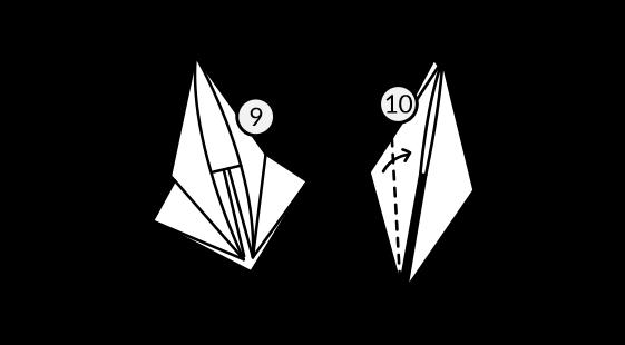 Lenda Tsuru Dobradura Passo 4